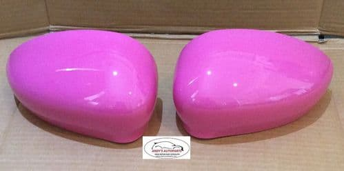 ABARTH 500,595,695 2015+ WING MIRROR COVER PAIR IN BARBIE ROSA COLOUR CODE 591/A