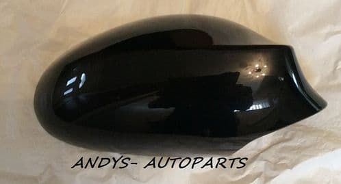 BMW 1 SERIES 04-09 GENUINE WING MIRROR COVER L/H OR R/H IN JET BLACK