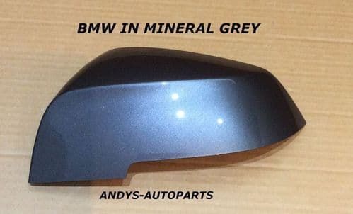 BMW 1 SERIES 2012 ON F20 / F21 WING MIRROR COVER L/H OR R/H IN MINERAL GREY