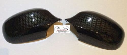 BMW 3 SERIES 08-2011 E90/E91 PAIR OF WING MIRROR COVERS IN CARBON FIBRE DIPPED