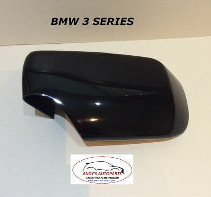BMW 3 SERIES E46 01 - 05  WING MIRROR COVER L/H OR R/H IN GLOSS BLACK