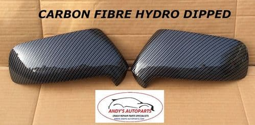 CITROEN C3 PICASSO 09 - 13 PAIR OF WING MIRROR COVERS CARBON FIBRE HYDRO DIPPED