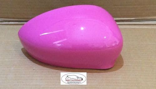 FIAT 500 2007 ONWARDS WING MIRROR COVER DRIVER IN BARBIE ROSA COLOUR CODE 591/A
