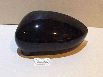 FIAT 500 2007 ONWARDS WING MIRROR COVER PASSENGER SIDE IN GLOSS BLACK .