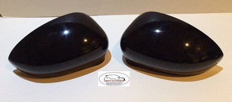 FIAT PUNTO 2012 ONWARDS WING MIRROR COVER PAIR IN GLOSS BLACK .