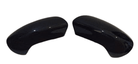 FITS NISSAN QASHQAI 07-2013 PAIR OF WING MIRROR COVERS IN GLOSS BLACK