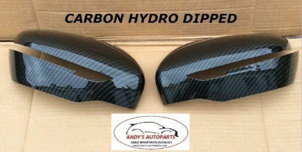FITS NISSAN X-TRIAL 2014+ PAIR OFWING MIRROR COVERS IN CARBON FIBRE HYDRO-DIP