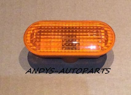 FORD FIESTA 02 ONWARDS  AMBER WING INDICATOR LENS LEFT OR RIGHT SIDE AVAILABLE