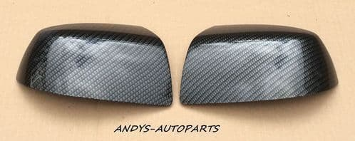 FORD FIESTA 05-08 WING MIRROR COVER LH & RH CARBON FIBRE HYDRO DIPPED