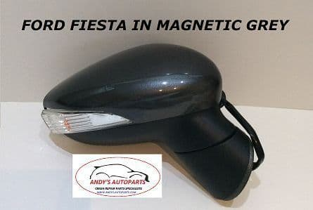 FORD FIESTA 08- 12 COMPLETE WING MIRROR LH OR RH IN MAGNETIC GREY