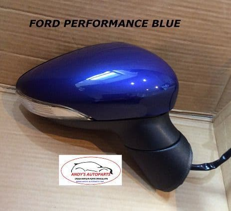 FORD FIESTA 08- 12 COMPLETE WING MIRROR LH OR RH IN  PERFORMANCE BLUE