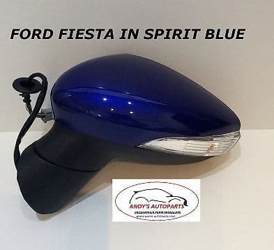 FORD FIESTA 08- 12 COMPLETE WING MIRROR LH OR RH IN SPIRIT BLUE