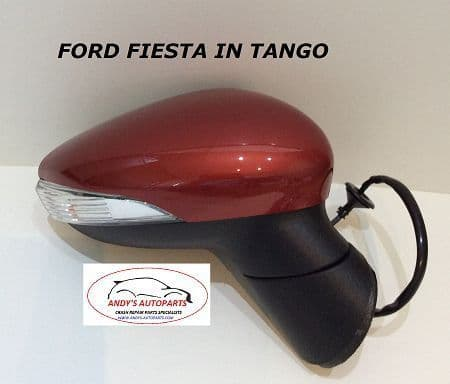 FORD FIESTA 08- 12 COMPLETE WING MIRROR LH OR RH IN  TANGO