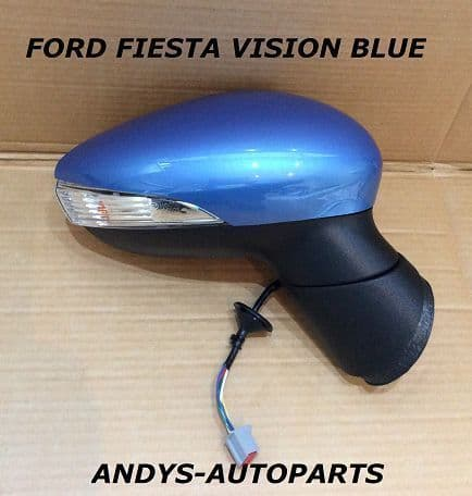 FORD FIESTA 08- 12 COMPLETE WING MIRROR LH OR RH IN VISION BLUE