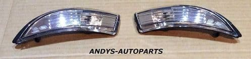 FORD FIESTA 08 ONWARDS MK7 PAIR OF WING MIRROR INDICATOR LENSES LH & RH