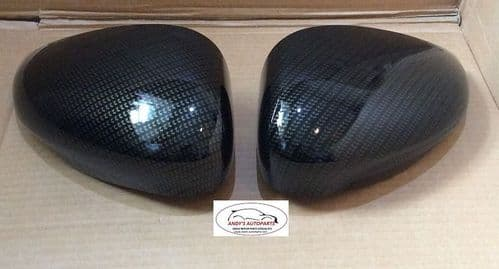 FORD FIESTA 08 ONWARDS  WING MIRROR COVERS IN CARBON FIBRE EFFECT