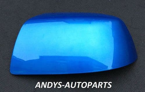 FORD FOCUS 04-07 WING MIRROR COVER LH OR RH SIDE IN AZURE  BLUE