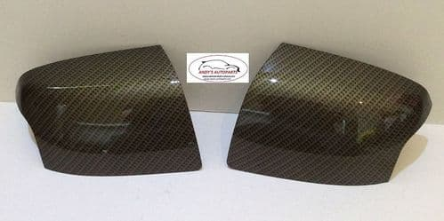 FORD FOCUS 05-08 PAIR OF WING MIRROR COVERS IN CARBON FIBRE EFFECT HYDRO DIPPED
