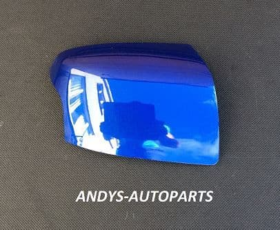 FORD FOCUS 05-08 WING MIRROR COVER LH OR RH SIDE IN PERFORMANCE BLUE