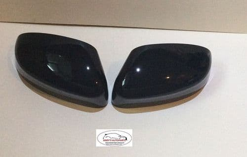 FORD FOCUS 08 ONWARDS PAIR OF WING MIRROR COVERS IN GLOSS BLACK.