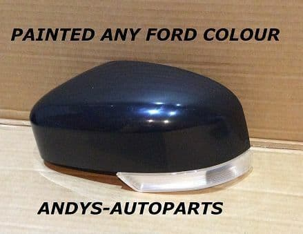 FORD MONDEO 2010+ WING MIRROR COVER WITH LENS LH OR RH PAINTED ANY FORD COLOUR