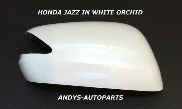 HONDA JAZZ 08 ONWARDS WING MIRROR COVER L/H OR R/H IN WHITE ORCHID