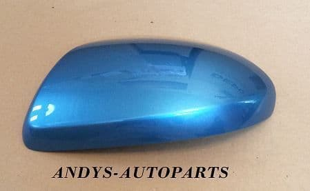 MAZDA 3 REPLACEMENT WING MIRROR COVER 2009 - 2012 LH OR RH IN CELESTIAL BLUE 38J