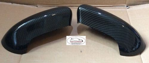 NISSAN QASHQAI 07- 2013 WING MIRROR COVER NEW PAIR  IN CARBON FIBRE HYDRO-DIPPED