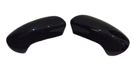 NISSAN QASHQAI 07 - 2013 WING MIRROR COVER REPLACEMENT PAIR IN GLOSS BLACK