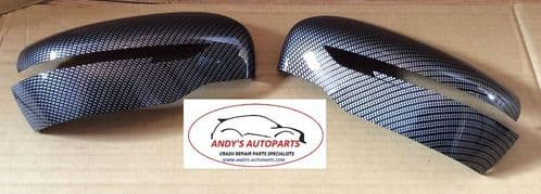 NISSAN QASHQAI 2014 ONWARDS PAIR OF  WING MIRROR COVERS CARBON FIBRE DIPPED