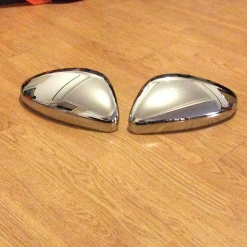 PEUGEOT 208. 2011 ONWARDS WING MIRROR COVERS R/H AND L/H IN CHROME FINISH.