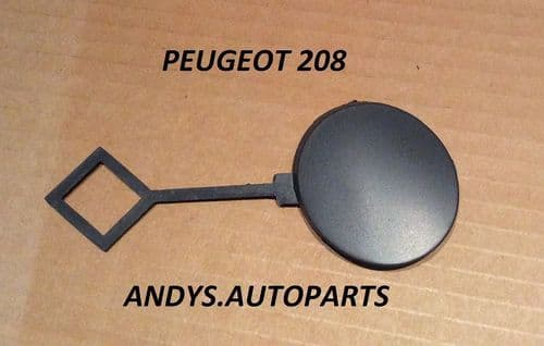 PEUGEOT 208. 2012 ONWARDS FRONT TOWING EYE CAP PAINTED ANY PEUGEOT COLOUR