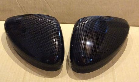 PEUGEOT RCZ 2010 ONWARDS PAIR OF WING MIRROR COVERS IN CARBON FIBRE HYDRO DIP
