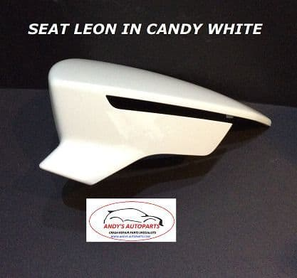 SEAT ATECA 2016 ONWARDS WING MIRROR COVER R/H OR L/H SIDE IN SEAT CANDY WHITE