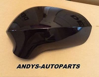 SEAT IBIZA 08 ONWARDS GENUINE L/H OR R/H WING MIRROR COVER IN SEAT GLOSS BLACK