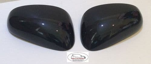 SEAT LEON 05-09 REPLACEMENT WING MIRROR COVER PAIR IN GLOSS BLACK