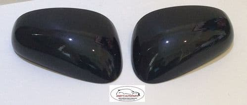 SEAT LEON 05-09 REPLACEMENT WING MIRROR COVER PAIR IN MAGIC BLACK