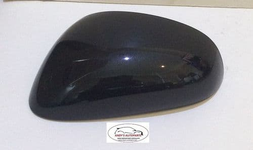 SEAT LEON 05-09 REPLACEMENT WING MIRROR COVER PASSENGER SIDE IN MAGIC BLACK.