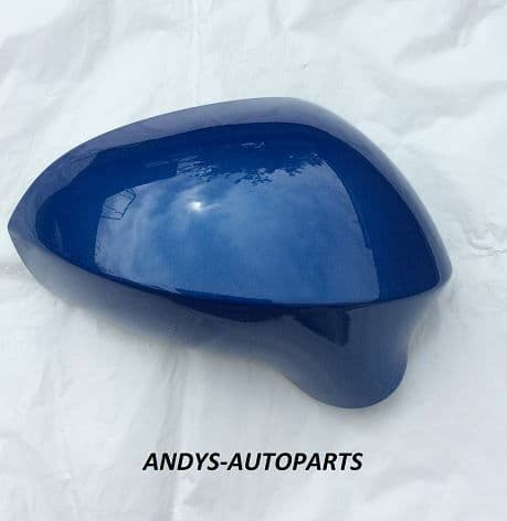 SEAT LEON 09-12 WING MIRROR COVER L/H OR R/H SIDE IN SPRINT BLAU