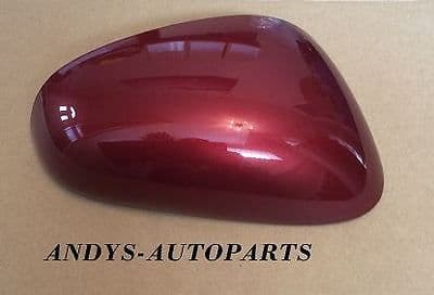 SEAT LEON 2005 - 09 REPLACEMENT WING MIRROR COVER L/H OR R/H IN ROJO RUBI CODE S3X