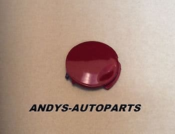 VAUXHALL ASTRA 04 - 06 FRONT BUMPER TOWING EYE COVER IN POMMEGRANATE RED colour code: 50C/2GU