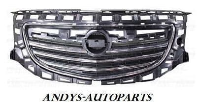 VAUXHALL INSIGNIA 2009 ONWARDS Front Grille Black Slats With Chrome Surround