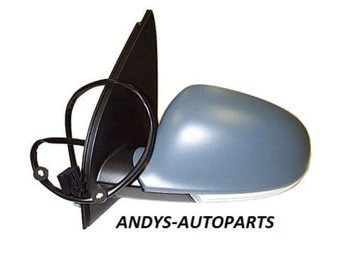 Volkswagen Golf 2004 - 2008   Door Mirror Electric Power Fold Type & Primed Cover (No Auto Dimming)
