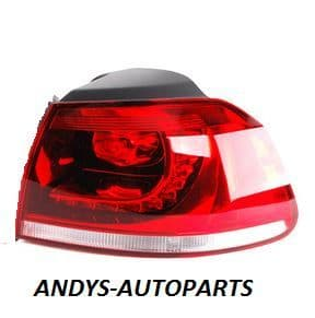 Volkswagen Golf 2009 - 2012  Rear Lamp Outer Section - Smoked (R Models)