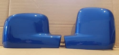 VOLKSWAGEN TRANSPORTER T5 PAIR WING MIRROR COVERS 03 -2010 IN OLYMPIAN BLUE