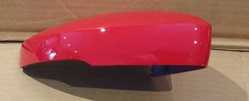 VW POLO 2008 ONWARDS DRIVER SIDE WING MIRROR COVER IN FLASH RED