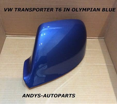 VW TRANSPORTER T5.1 09-2011 WING MIRROR COVER L/H OR R/H IN OLYMPIAN BLUE