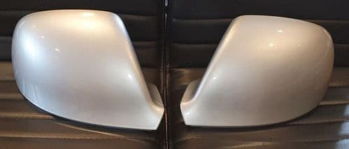 VW TRANSPORTER T6 10 ONWARDS PAIR OF WING MIRROR COVERS IN REFLEX SILVER
