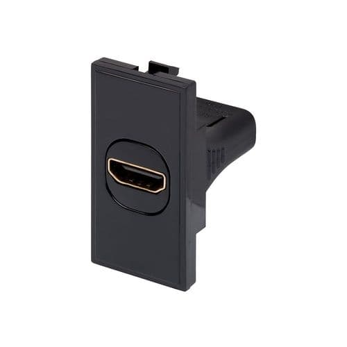 RT HDMI Outlet (25mmX50mm) Black 09037