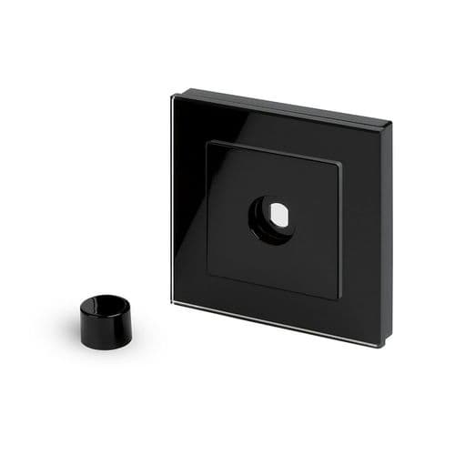 RetroTouch 1 Gang LED Dimmer Plate Black Glass PG 02053